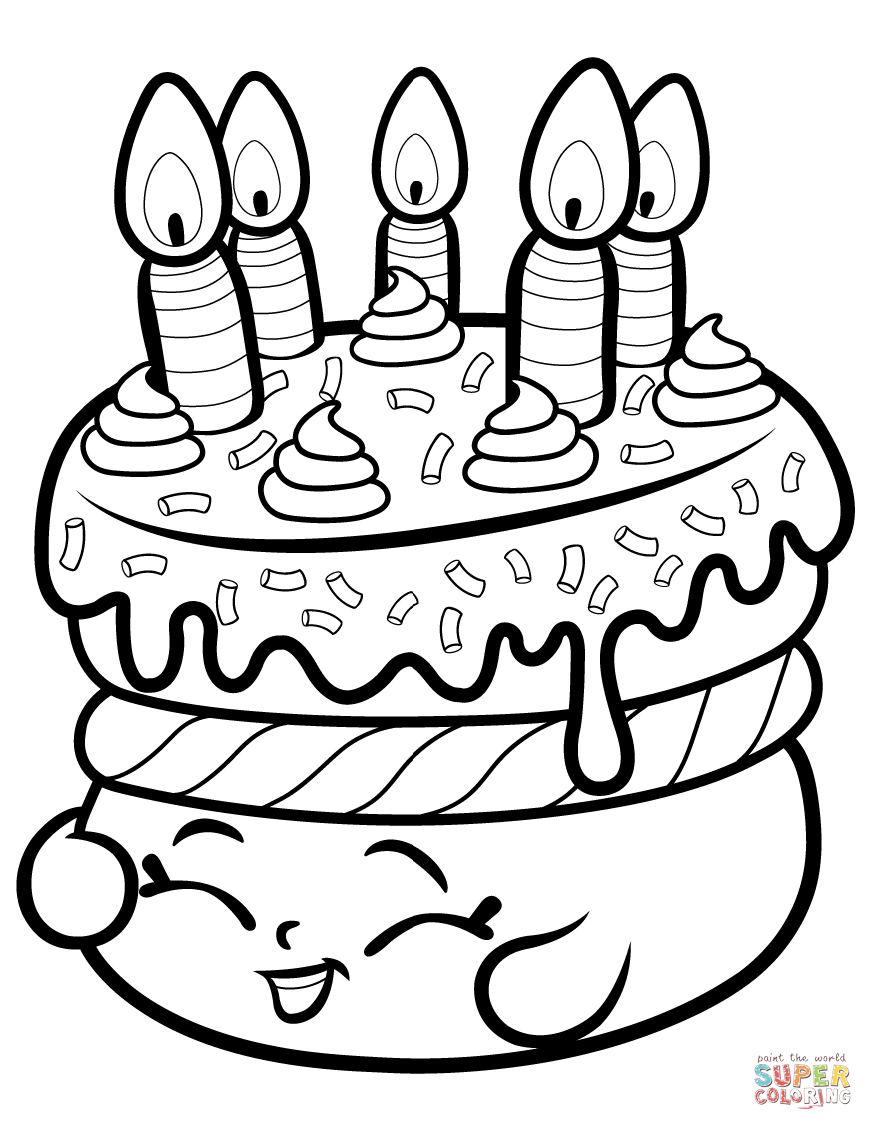 Cake Wishes Shopkin Coloring Page | Free Printable Coloring Pages - Shopkins Coloring Pages Printable Free