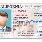 California Driver License Template. Open California Psd File With   Free Printable Fake Drivers License