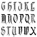 Calligraphy | Old English Calligraphy Alphabet | Tattoo Lettering   Free Printable Old English Letters