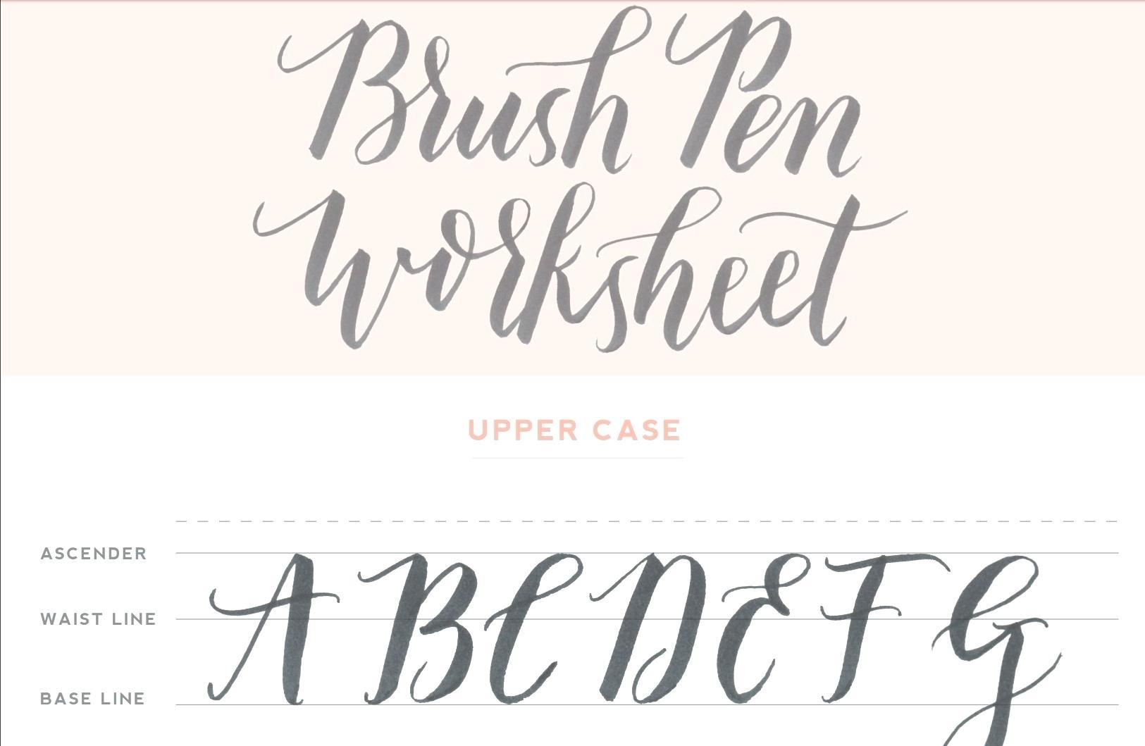 Calligraphy Practice Sheets Printable Free Modern Calligraphy - Modern Calligraphy Practice Sheets Printable Free