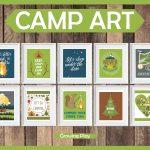 Camp Art   Camping Printables   Free Camping Printables
