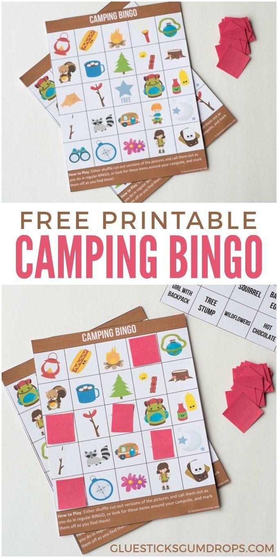 Camping Bingo Free Printable Cards | Free Printables | Camping Bingo - Free Camping Printables
