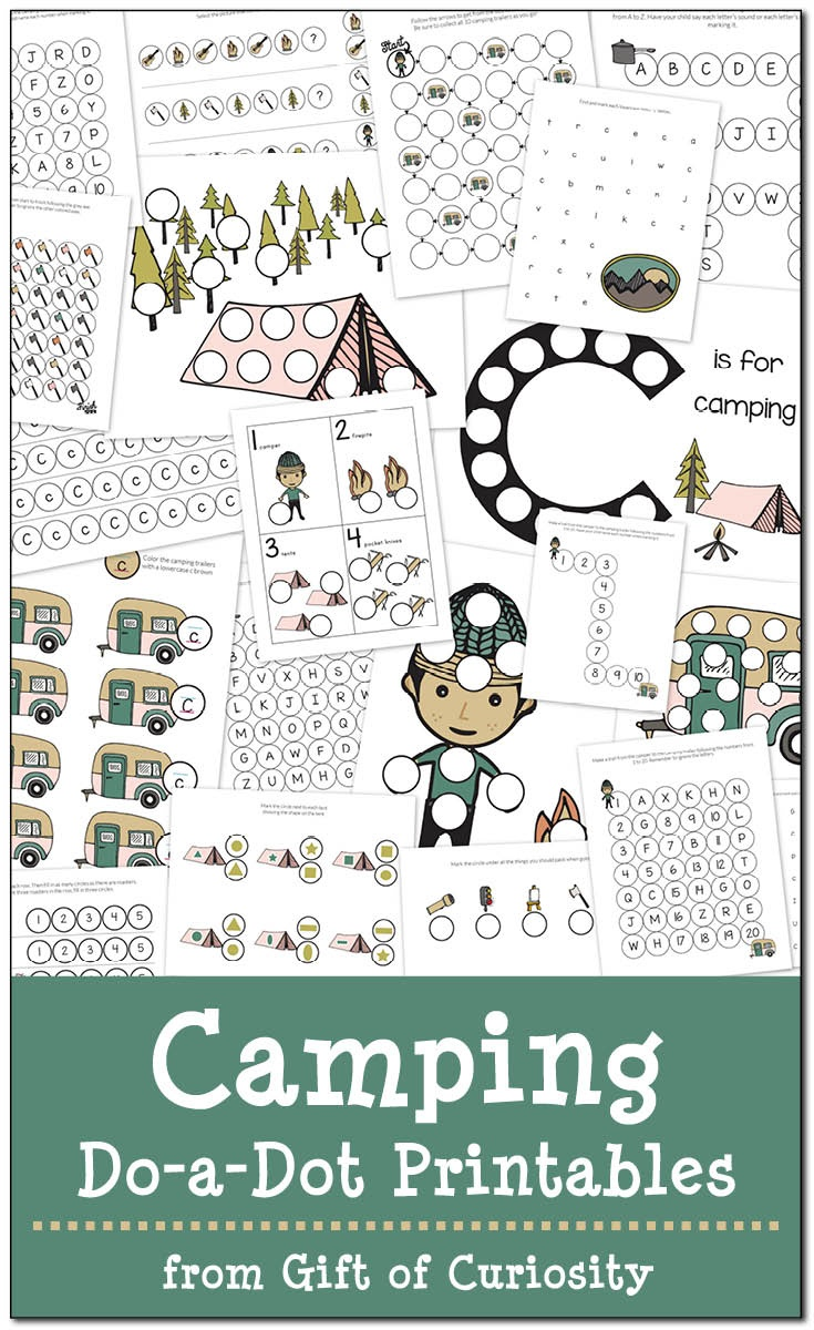 Camping Do-A-Dot Printables {Free} - Gift Of Curiosity - Free Camping Printables