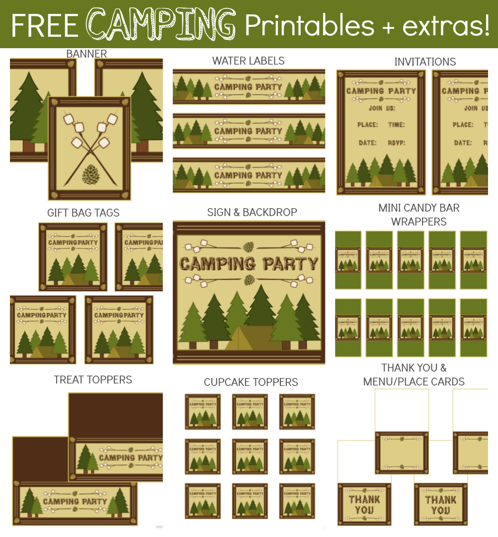 Camping Party Printables In 2019 | Party | Camping Parties, Party - Free Camping Party Printables