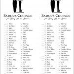 Can You Match These Famous Couples? (Free Printable)   Flanders   Free Printable Compatibility Test For Couples