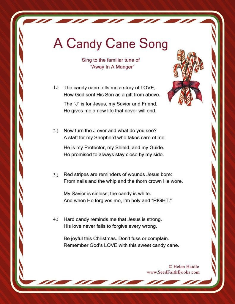 Candy Cane Legend Song - Pdf | Christmas Programs | Candy Cane - Free Printable Christmas Programs