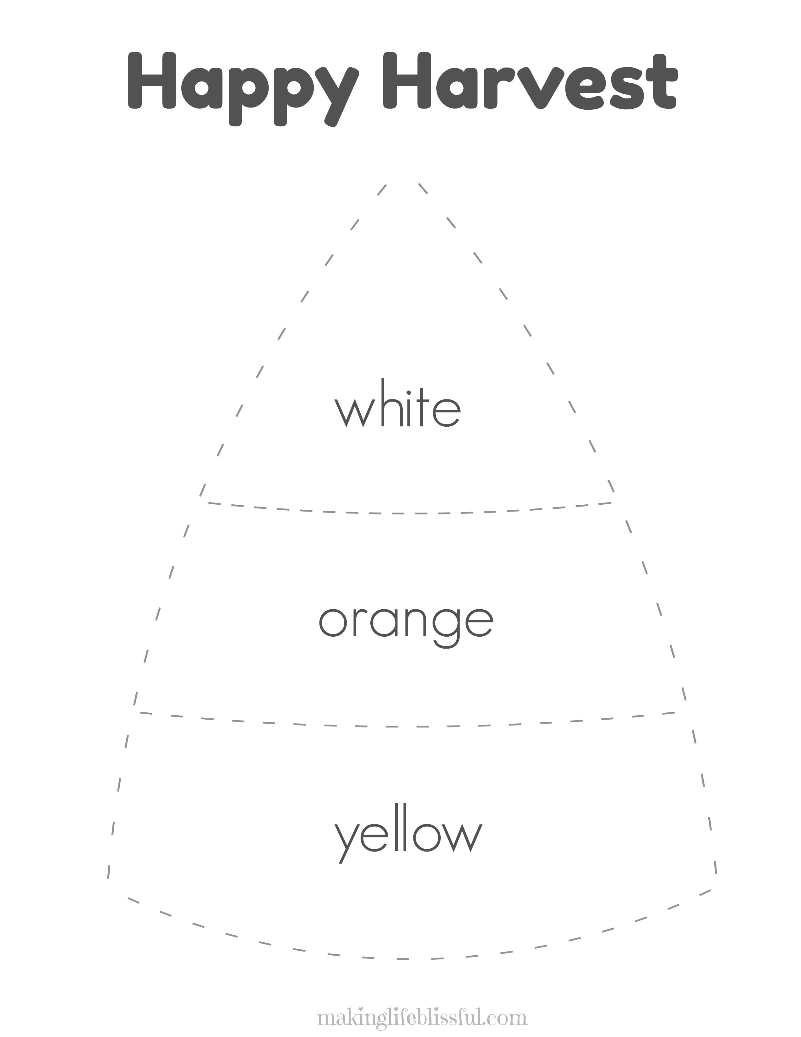 Candy Corn Craft For Kids And Printables | Making Life Blissful - Free Printable Candy Corn