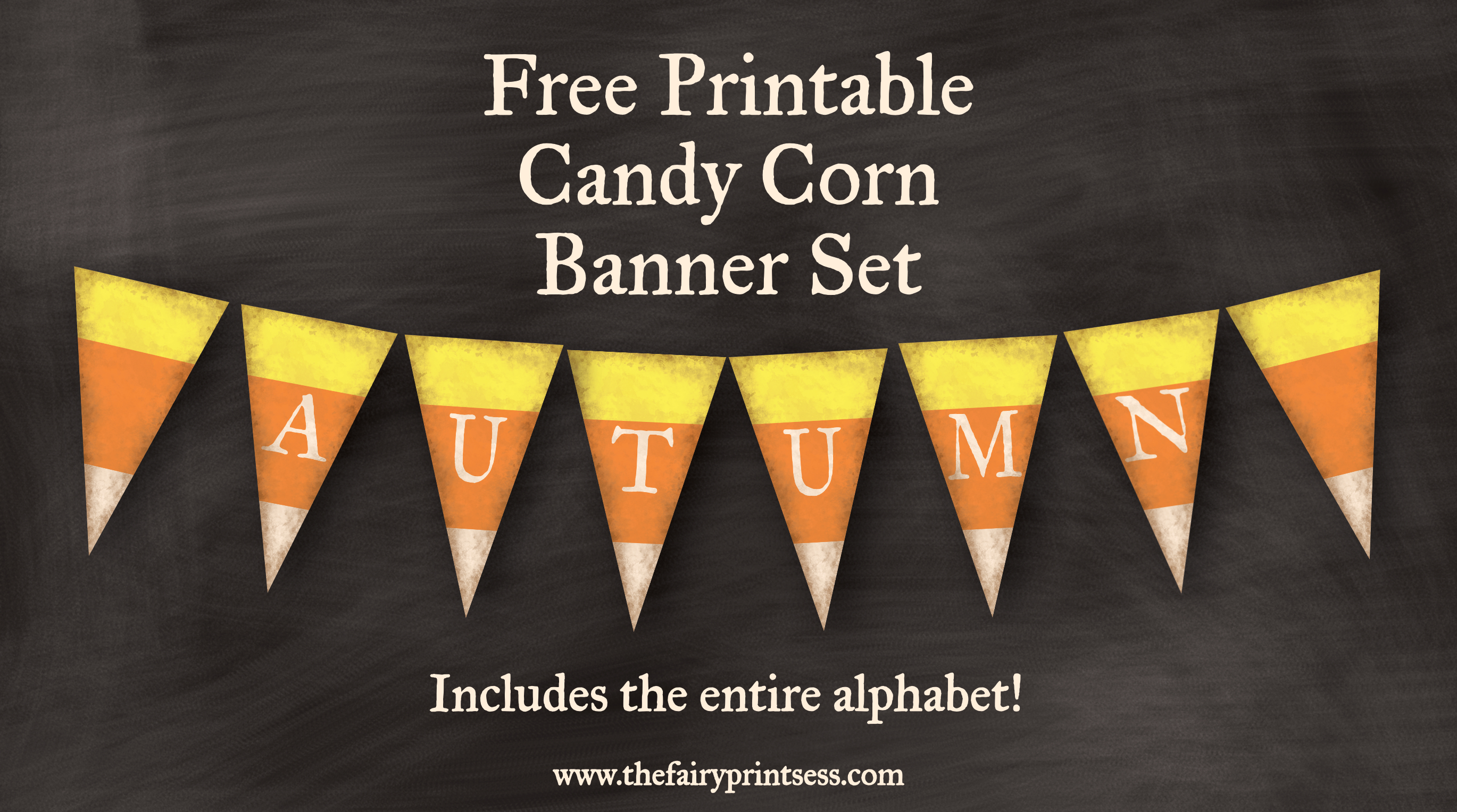 Candy Corn Fall Banner - Free Printable Set For Decor And Crafts! - Free Printable Candy Corn