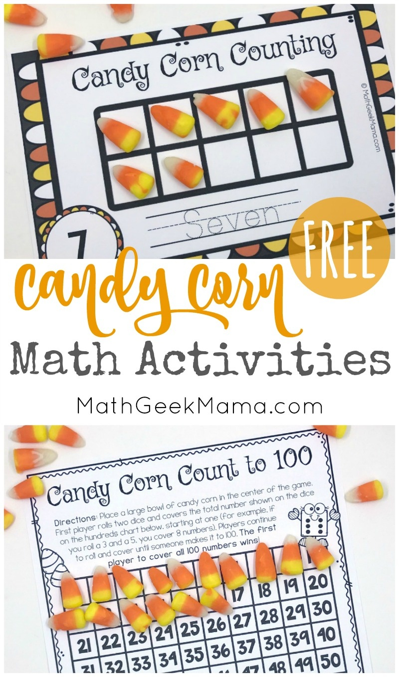 Candy Corn Math: Hands On Activities {With Free Printables} - Free Printable Candy Corn