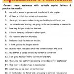 Capitalization & Punctuation Worksheet   Free Esl Printable   Free Printable Worksheets For Punctuation And Capitalization