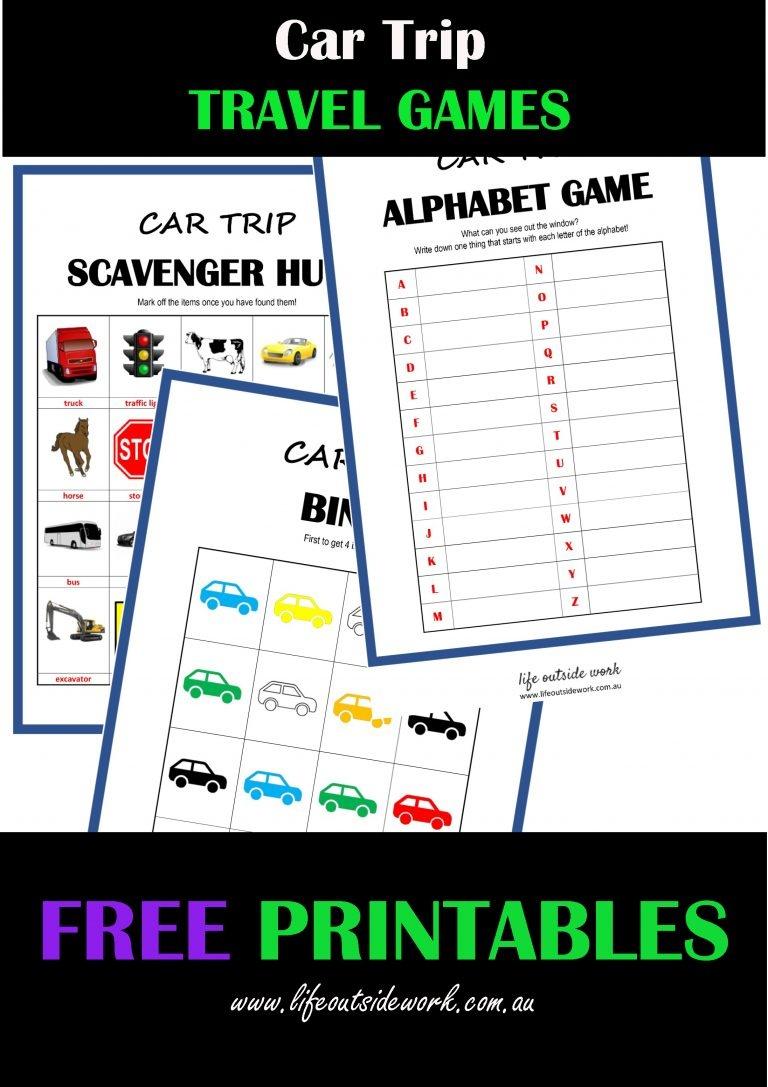 Car Travel Games + Free Printables | Life Outside Work - Free Printable Car Ride Games