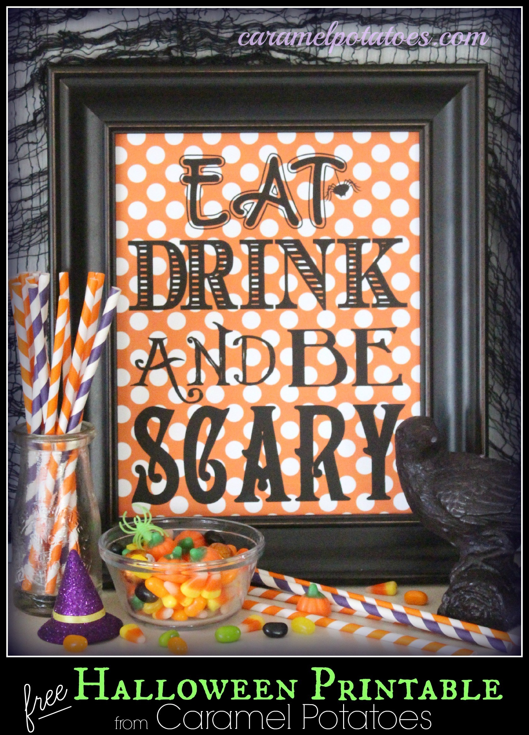 Caramel Potatoes » Eat Drink And Be Scary {Free Printable} - Eat Drink And Be Scary Free Printable