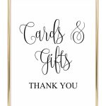 Cards And Gifts Wedding Sign   Chicfetti   Free Printable Cards