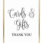 Cards And Gifts Wedding Sign | Sarah's | Wedding Reception Signs   Cards Sign Free Printable