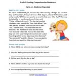 Carlo Or Kindness Rewarded Second Grade Reading Worksheets | Reading   Free Printable Short Stories For Grade 3