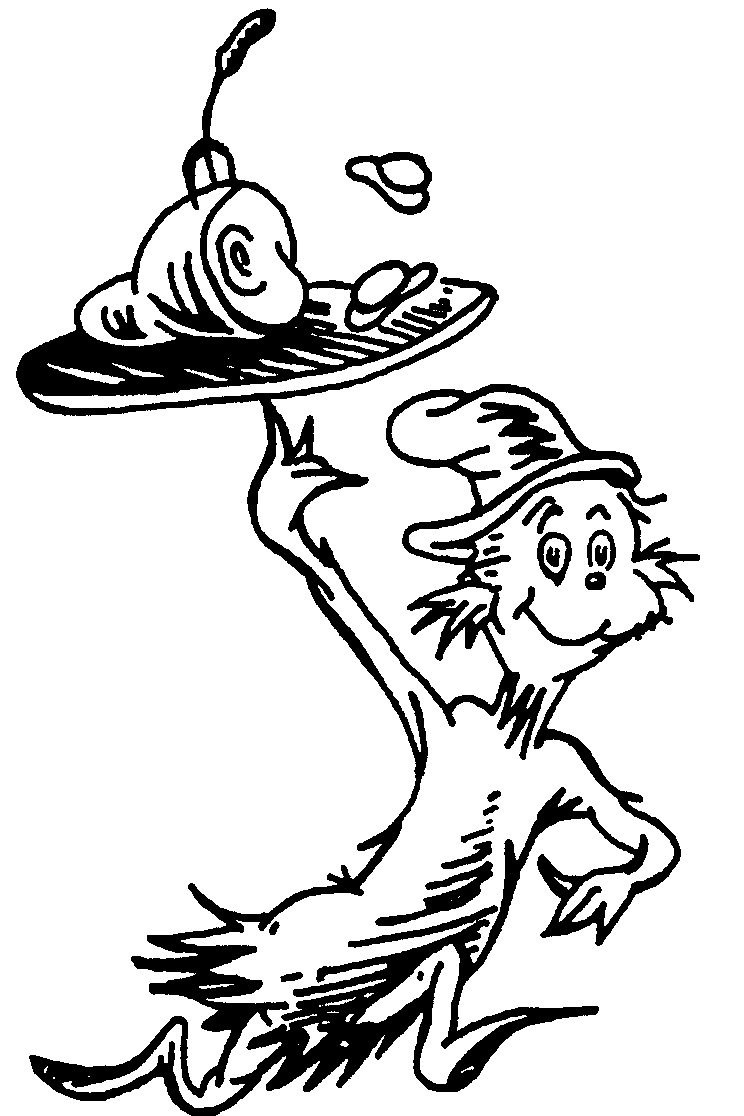 Cat In The Hat Hat Coloring Pageskidsfreecoloring | Free - Free Printable Dr Seuss Coloring Pages