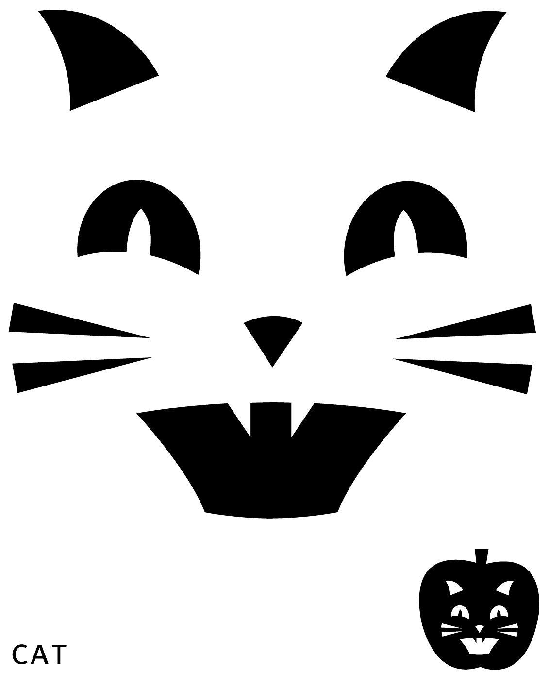 Cat Pumpkin Carving Template | Halloween | Pumpkin Carving Patterns - Free Printable Pumpkin Patterns