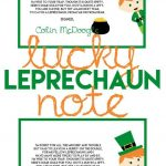 Catch A Leprechaun This St. Patrick's Day With A Leprechaun Trap   Free Printable Leprechaun Notes