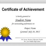 Certificate Of Achievement Template   Free Printable Certificates Of Accomplishment
