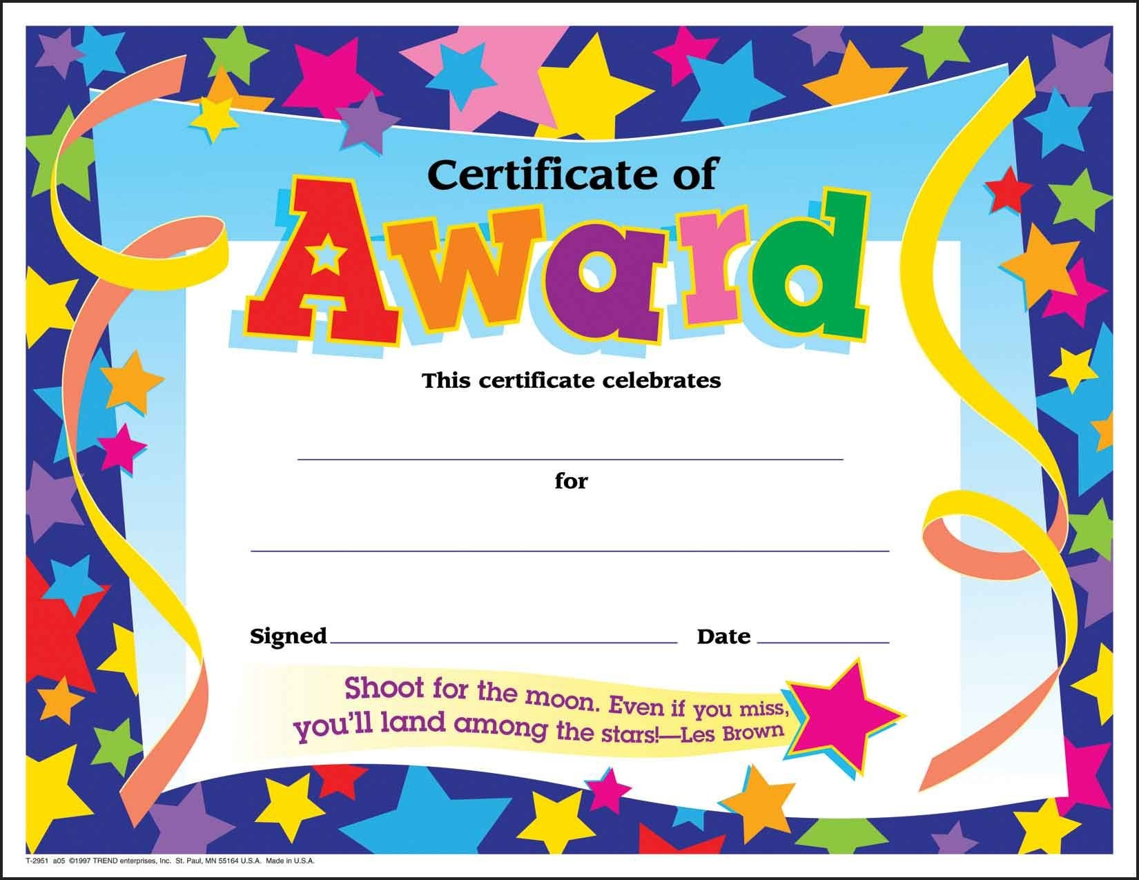 Certificate Template For Kids Free Certificate Templates - Free Printable Camp Certificates