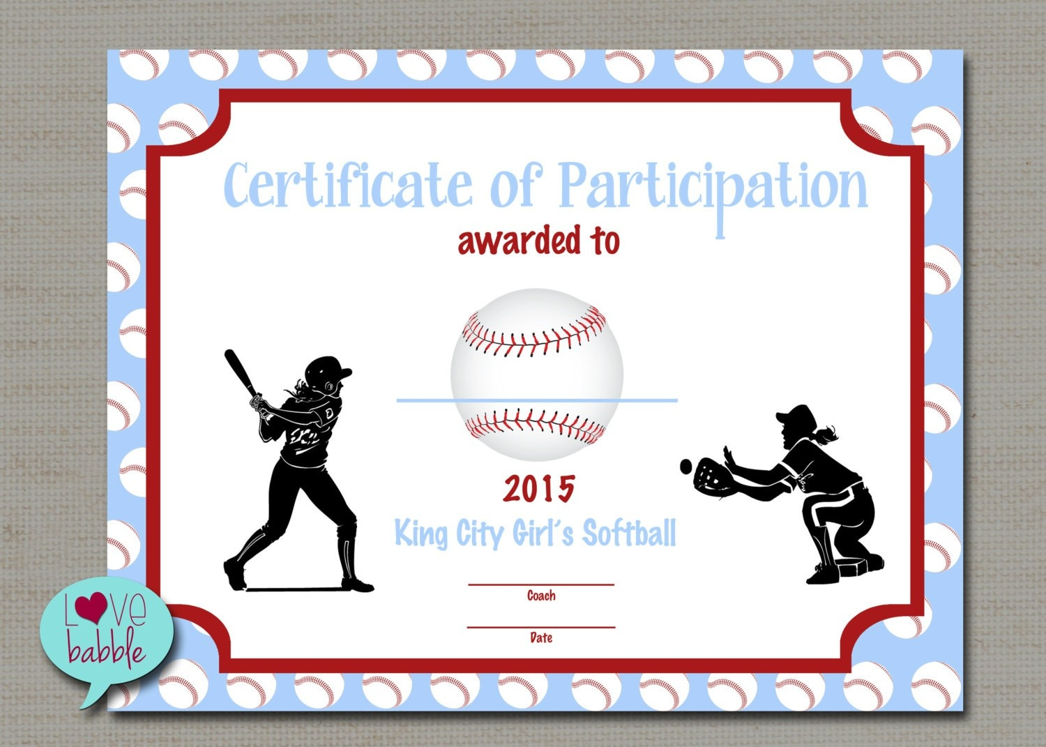 Certificates For Kids Free Best Of Softball Award Certificate - Free Printable Softball Award Certificates