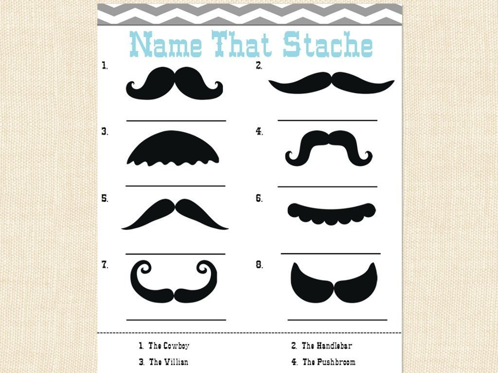 Chad Howadd (Chadhowadd) On Pinterest - Name That Mustache Game Printable Free