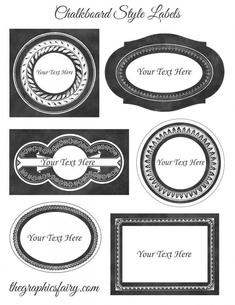 Chalkboard Style Printable Labels - Editable! | Diy Ideas - Free Customizable Printable Labels