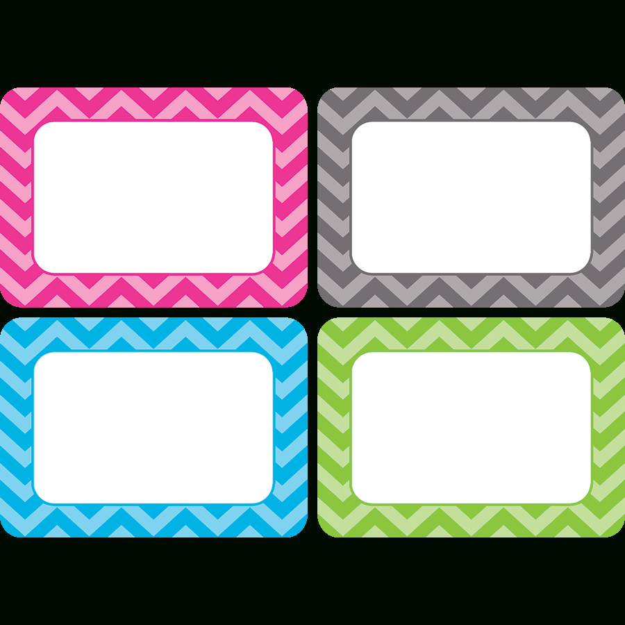 Chevron Name Tags/labels - Multi-Pack - Tcr5526 | Teacher Created - Free Printable Chevron Labels