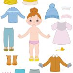 Child Girl Paper Doll With Clothes From Dress Up Paper Dolls   Free Printable Dress Up Paper Dolls