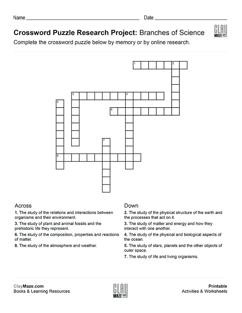 Childrens Crossword Puzzle – Androidstarter.club - Free Printable Science Crossword Puzzles