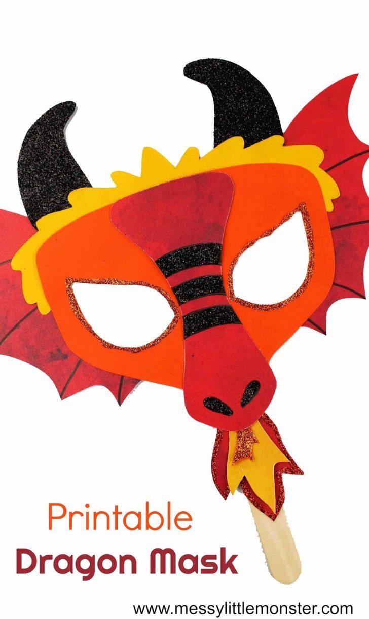 Dragon Mask Printable Free