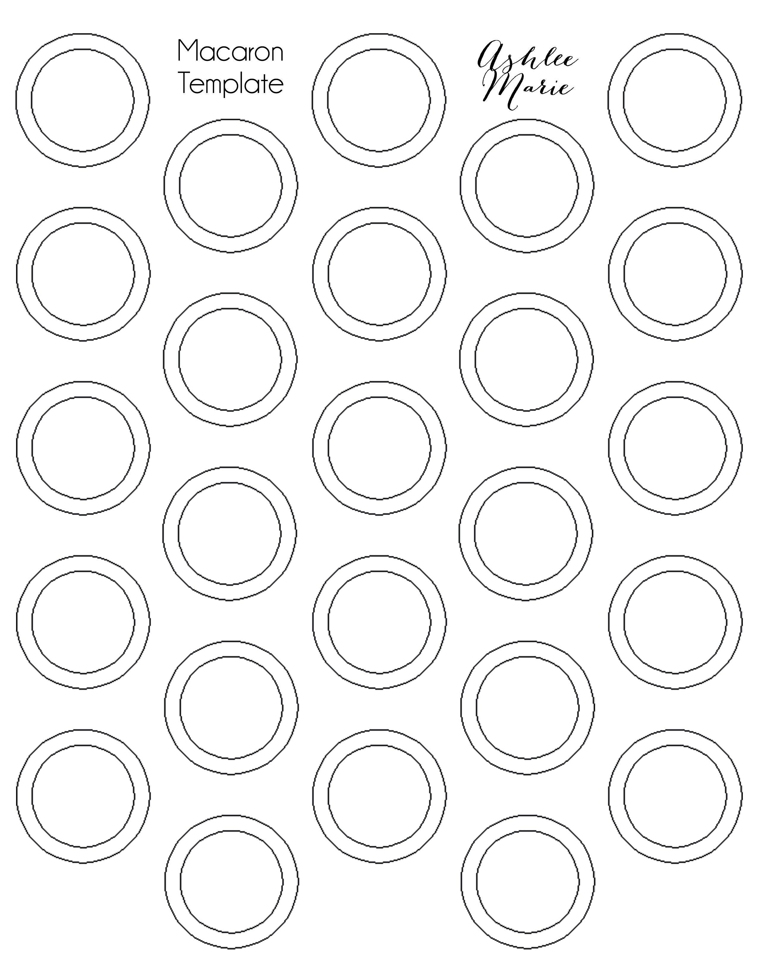 Chocolate Mint Macarons | Ashlee Marie | MƛᏣƛᖇᎧᑎՏ In 2019 - Free Printable Macaron Template
