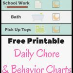 Chore Chart And Behavior Chart Free Printable | Printables | Chore   Free Printable Chore And Behavior Charts