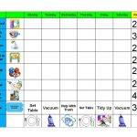Chore Chart For Young Kids | Gael's Crafty Treasures: Good Behavior   Free Printable Chore And Behavior Charts