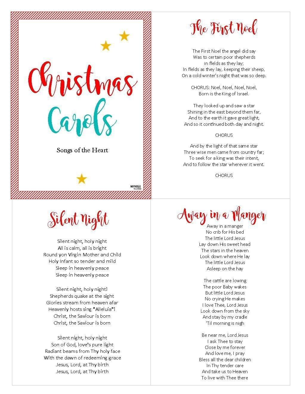 Christ-Centered Christmas Carols: Free Printable | Christmas 2018 - Free Printable Christmas Carols Booklet