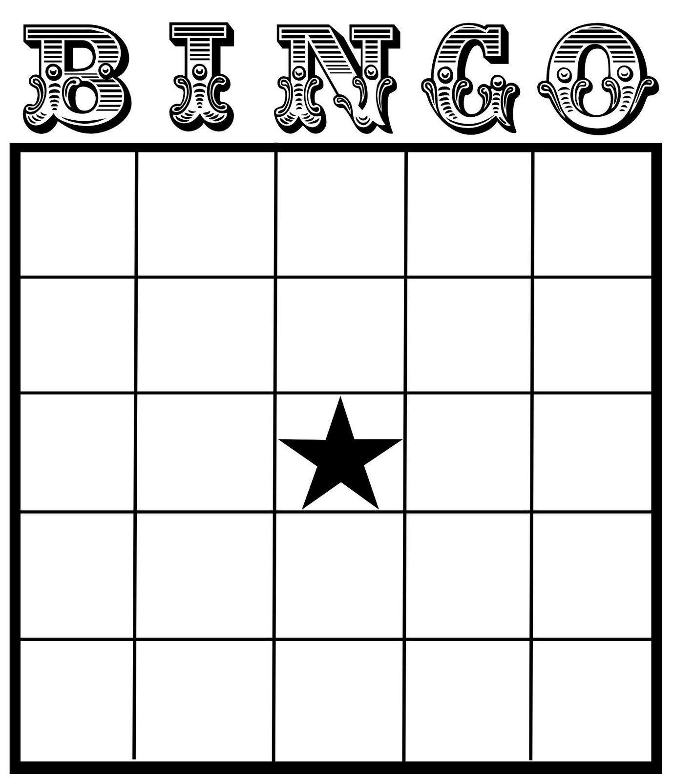 Christine Zani: Bingo Card Printables To Share | Reading & Writing - Free Printable Bingo Maker