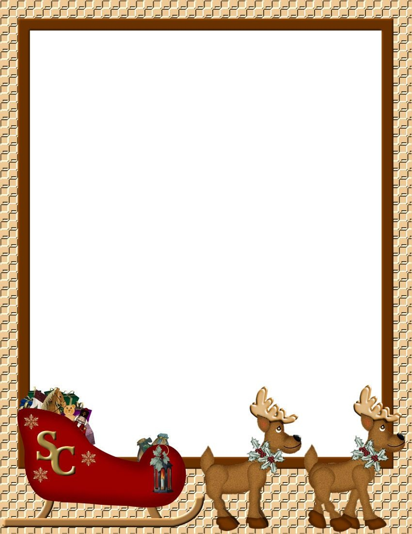 Christmas 1 Free-Stationery Template Downloads | Real Estate - Free Printable Christmas Paper With Borders