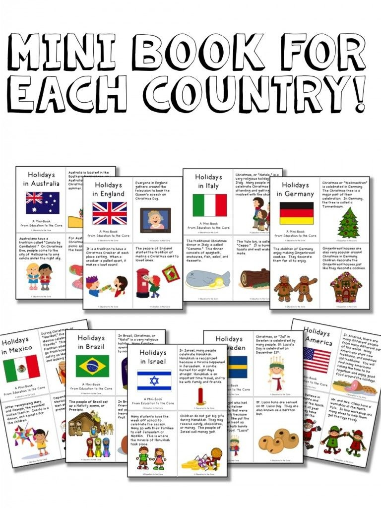 Christmas Around The World Activities And A Freebie! | Preschool - Christmas Around The World Free Printables
