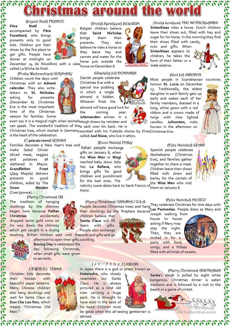 Christmas Around The World Worksheet - Free Esl Printable Worksheets - Christmas Around The World Free Printables