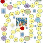 Christmas Board Game Template Worksheet   Free Esl Printable   Free Online Printable Christmas Games For Adults