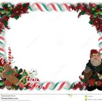 Christmas Border Candy And Elf Stock Illustration   Illustration Of   Free Printable Christmas Frames And Borders
