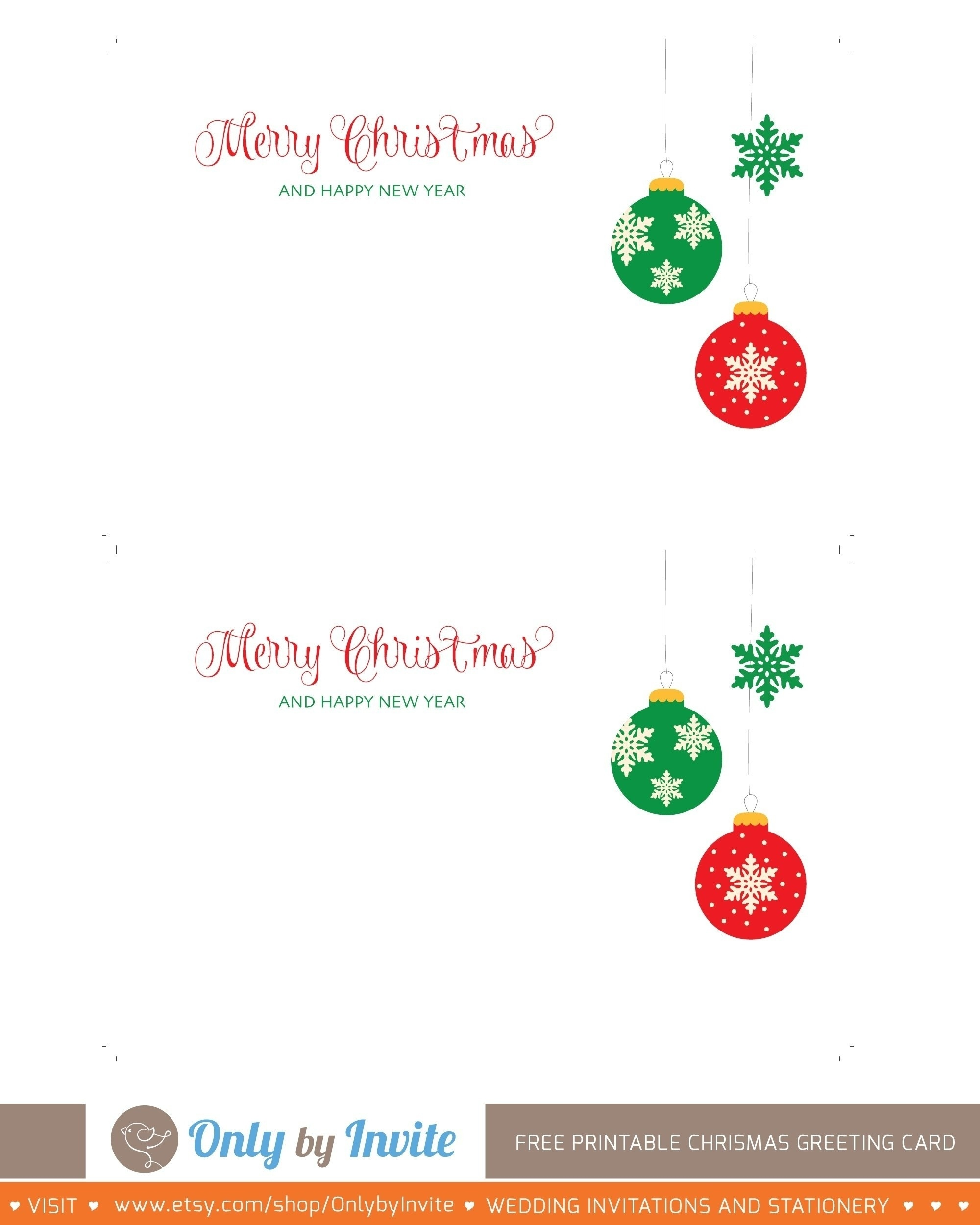Christmas Cards Free Printables Online – Festival Collections - Free Printable Xmas Cards Online