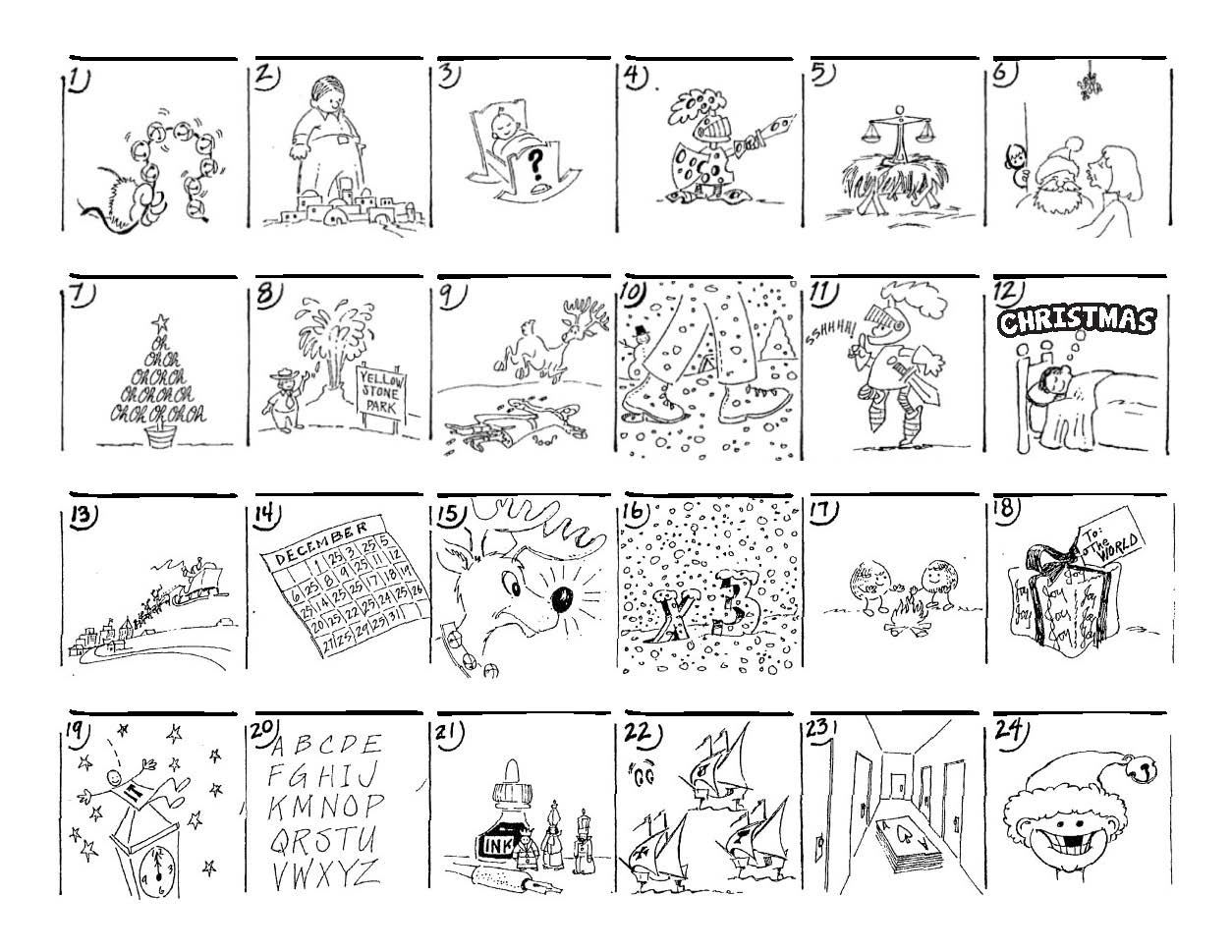 Christmas Carol Puzzles – The Button-Down Mind - Free Printable Holiday Brain Teasers