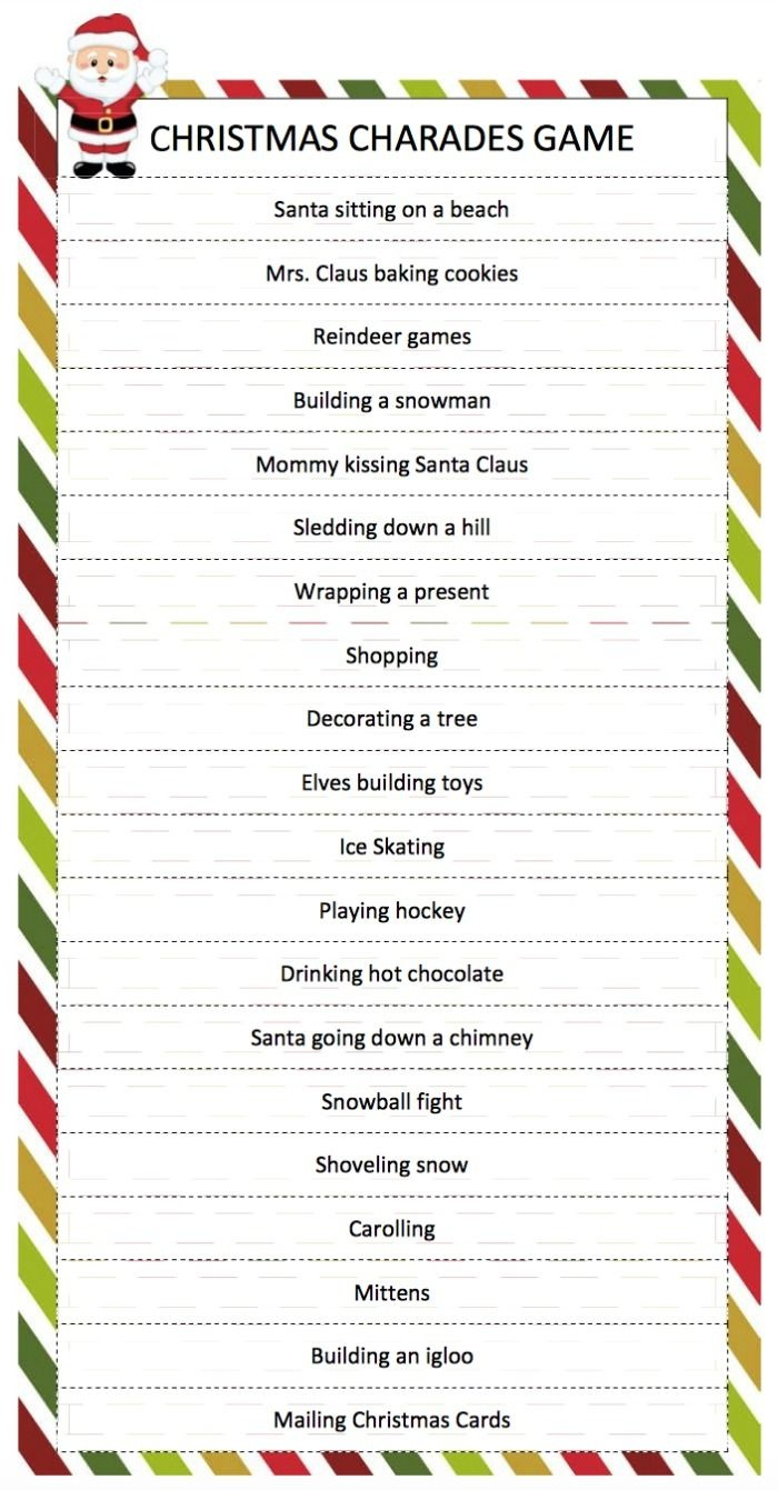 Free Printable Christmas Family Games