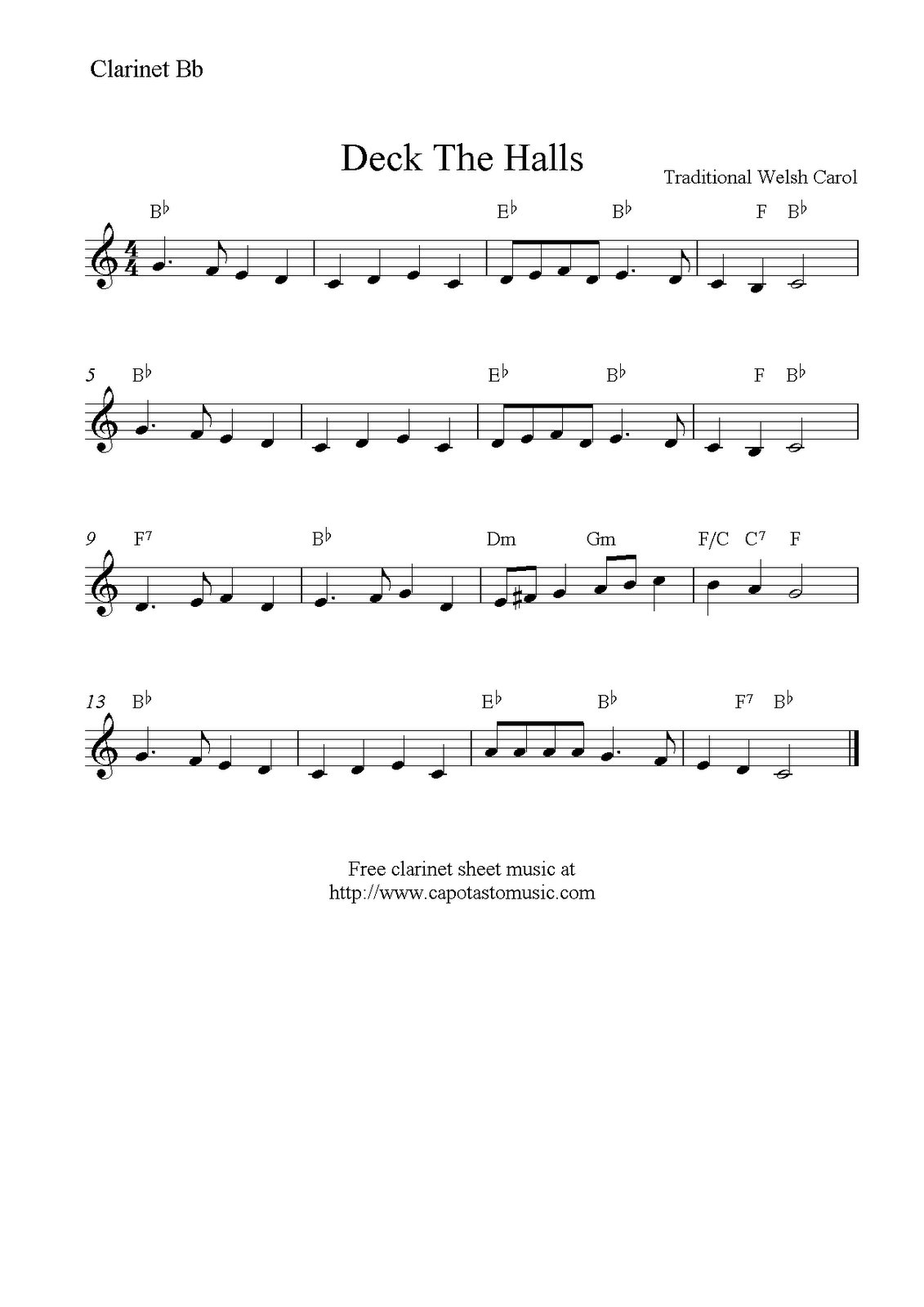 Christmas Clarinet Sheet Music Free - Google Search | Music - Free Printable Christmas Songs For Clarinet