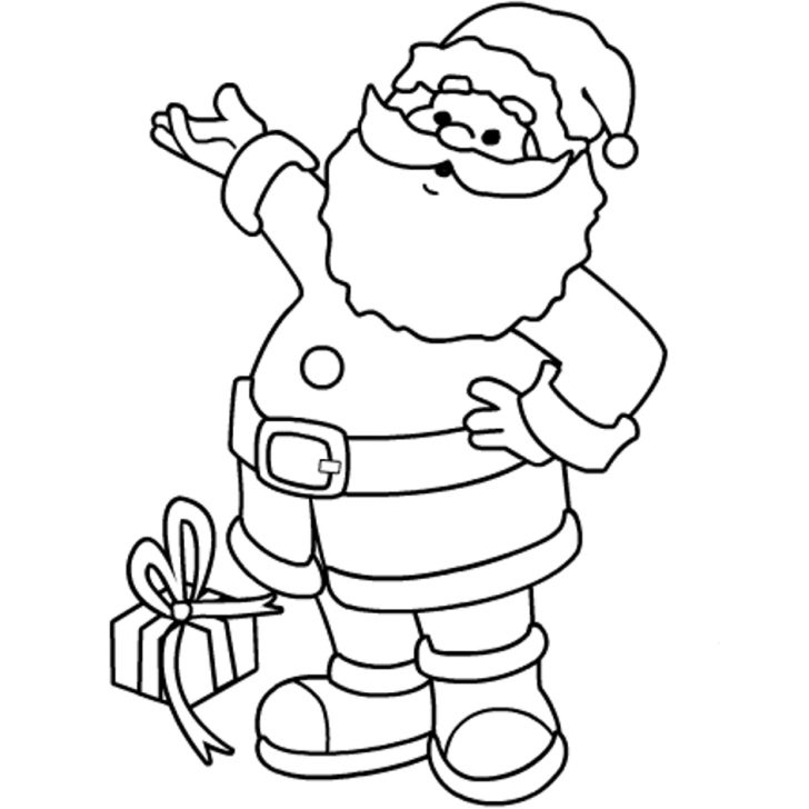 Santa Coloring Pages Printable Free