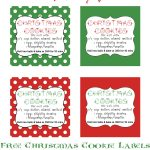 Christmas Cookies In A Jar | Recipe | Gifts In A Jar | Christmas   Free Printable Jar Labels Christmas