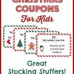 Christmas Coupons For Kids   Free Printable!   Free Printable Stocking Stuffers