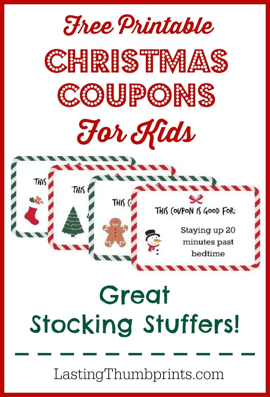 Christmas Coupons For Kids - Free Printable! - Free Printable Stocking Stuffers