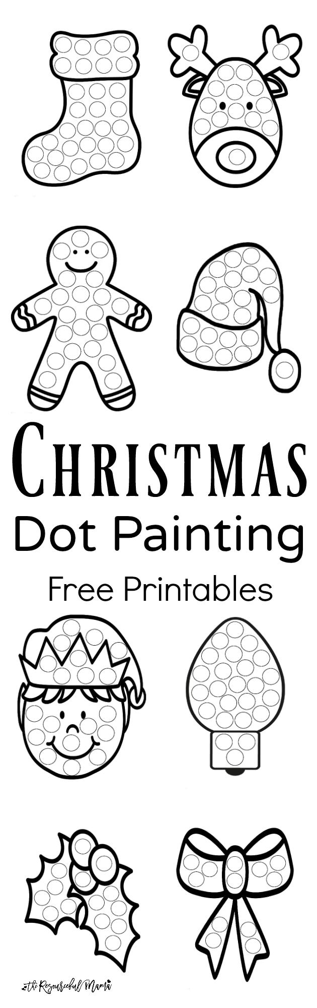 Christmas Dot Painting {Free Printables} | Christmas! | Christmas - Free Dot Painting Printables